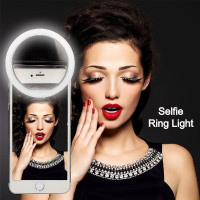 Kunla LED Selfie Ring Light με USB και καθρέφτη - Black [KL-HK88-B]