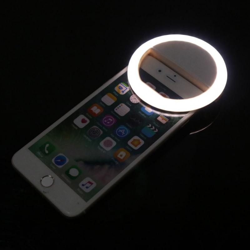 Kunla LED Selfie Ring Light με USB και καθρέφτη - Black [KL-HK88-B]