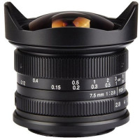 7Artisans 7.5mm f/2.8 Fisheye Photoelectric Lens For Canon EOS-M [A302B]