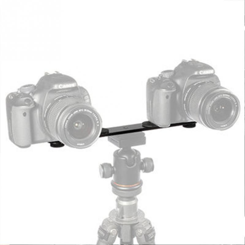 AccPro Universal Dual Bracket Holder with 2 Adapter Screws For 1/4'' Screw [LS-17]