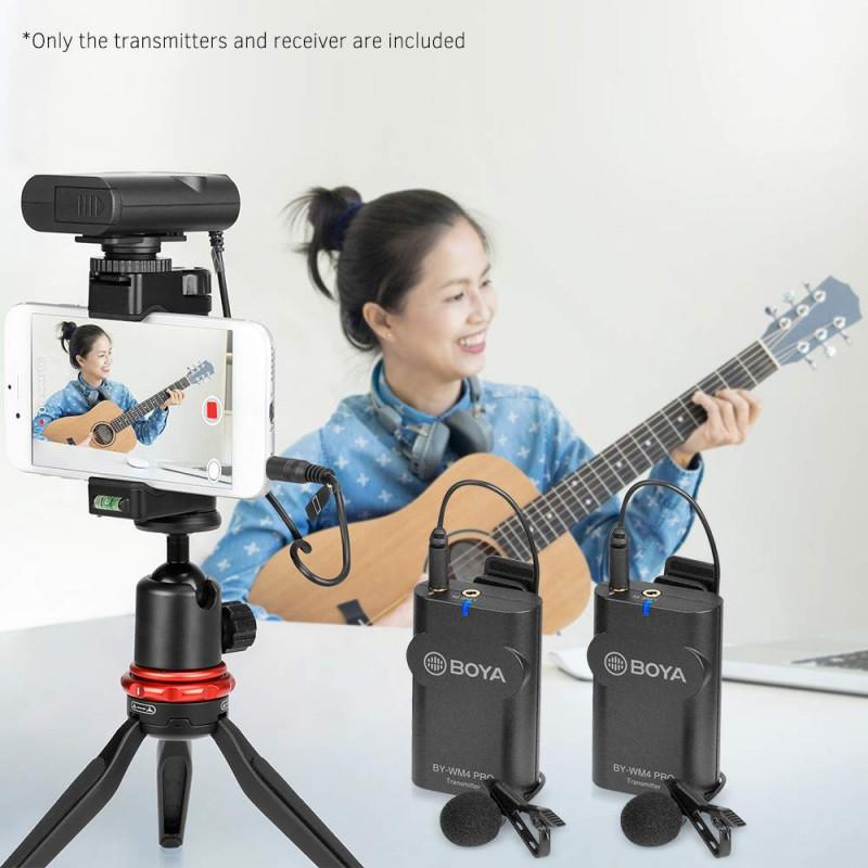 Boya BY-WM4 Pro K2 - Ασύρματο μικρόφωνο Πέτου με 2 δέκτες για κάμερες και Smartphones