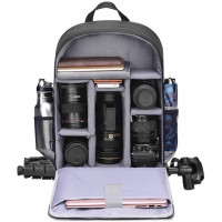 Caden D6-L Shoulder Camera Backpack - Black