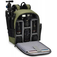 Caden D6-S Shoulder Camera Backpack - Green