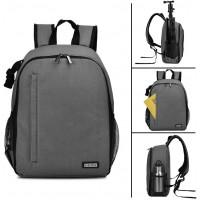 Caden D6-S Shoulder Camera Backpack - Grey