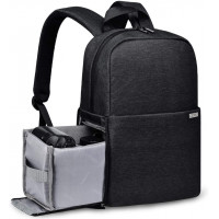 Caden L4 Water Resistant Camera Backpack - Black