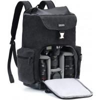 Caden M8 Water Resistant Camvas Camera Backpack - Black