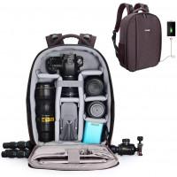 Caden D10 Water Resistant Camera Backpack - Black