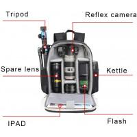 Caden D6-S Shoulder Camera Backpack - Black