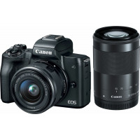 Canon EOS M50 Kit EF-M 15-45mm & 55-200mm Black [2680C072AA]