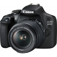 Canon EOS 2000D kit 18-55mm IS II - Black + Κάρτα SD 16gb