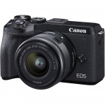 Canon EOS M6 Mark II Kit EF-M 15-45mm IS STM + EVF Black  [3611C053AA]