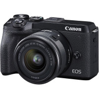 Canon EOS M6 Mark II Kit EF-M 15-45mm IS STM + EVF Black + Δώρο Mount Adapter [3611C053AA]