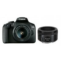 Canon EOS 2000D Double kit 18-55mm IS II + 50mm f/1.8 [2728C022]