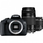 Canon EOS 2000D Double kit 18-55mm IS II + 75-300mm + Κάρτα SD 32gb  [2728C031AA]  (Cashback -30€)