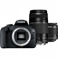 Canon EOS 2000D Double kit 18-55mm IS II + 75-300mm + Κάρτα SD 32gb  [2728C031AA]