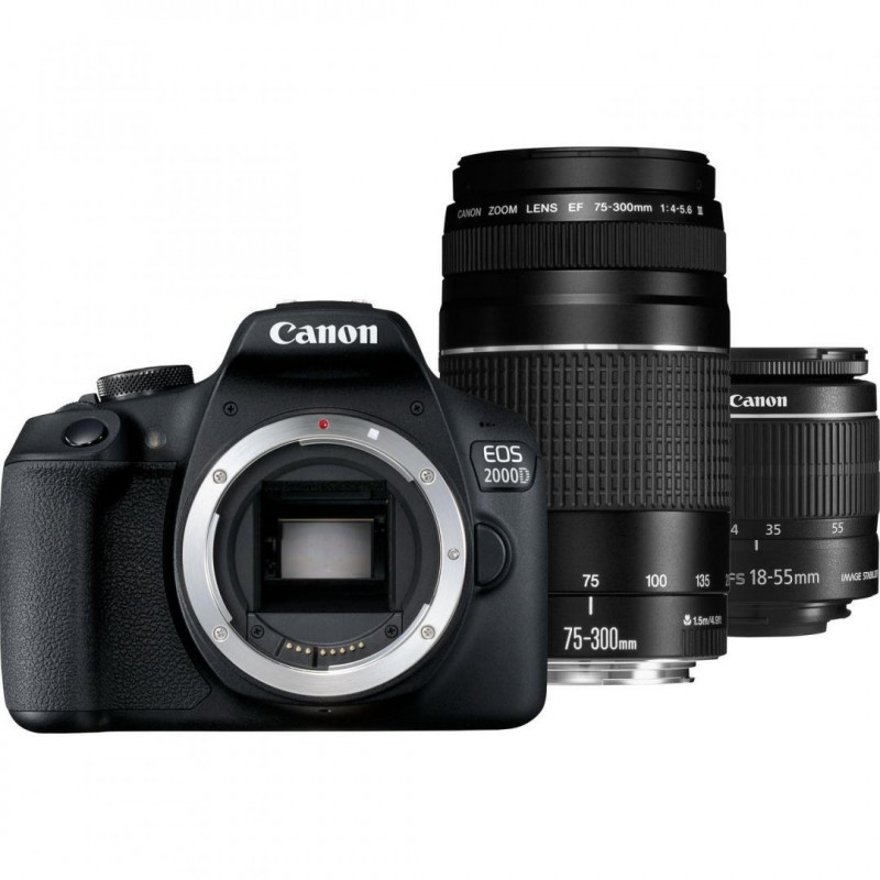 Canon EOS 2000D Double kit 18-55mm IS II + 75-300mm [2728C031AA]
