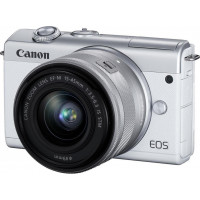 Canon EOS M200 Kit + EF-M 15-45mm f/3.5-6.3 IS STM - White [3700C032AA]