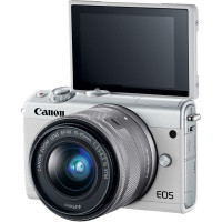 Canon EOS M100 Kit + EF-M 15-45mm f/3.5-6.3 IS STM - White [2210C012]