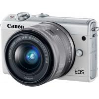 Canon EOS M100 Kit + EF-M 15-45mm f/3.5-6.3 IS STM - White [2210C012] (Cashback -40€)