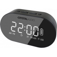 Crystal Audio BTC1-K BT Speaker Alarm Clock - Black