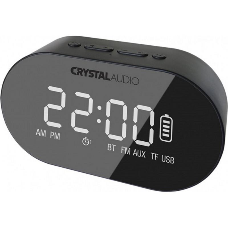 Crystal Audio BTC1-K BT Speaker Alarm Clock - Black