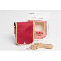 Fujifilm Instax Mini 8 / 9 Case raspberry + Strap