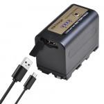 Batmax μπαταρία NP-F770pro με USB Charging Port συμβατή με Sony NP-F750 / 770 - 5200mAh