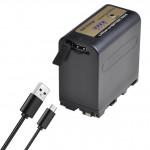 Batmax μπαταρία NP-F970pro με USB Charging Port συμβατή με Sony NP-F960 / 970 - 7800mAh