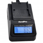 DuraPro LCD Quick Charger Ρεύματος / Αυτοκινήτου για Sony NP-F550/770/970/FM50