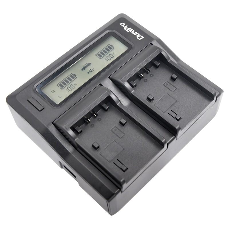 DuraPro LCD Quick Dual Charger Ρεύματος / Αυτοκινήτου για Sony NP-FW50
