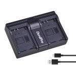 DuraPro USB Dual Charger για Sony NP-F550/770/970/FM50