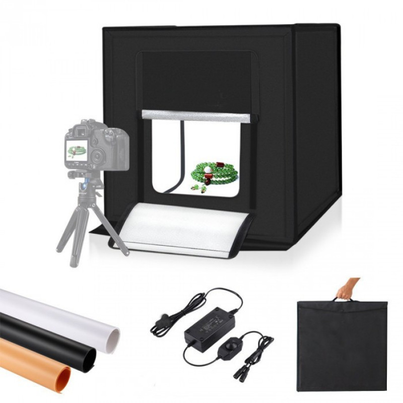 Oem - IRiSfot Portable Photo Studio Box 40x40cm With Dimmable LED Lights [LT-004]