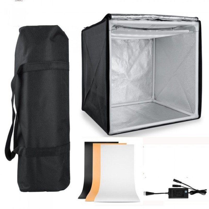 E-Reise Photo Studio Box 60x60cm With Dimmable LED Lights [LT-006B]