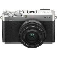 Fujifilm X-E4 Mirrorless Digital Camera with 27mm Lens (Silver)