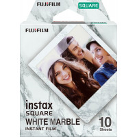 Fujifilm Instax Square Instant Film - White Marble (10 Shots)