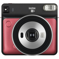 Fujifilm instax SQUARE SQ6 Instant Film Camera (Ruby Red)