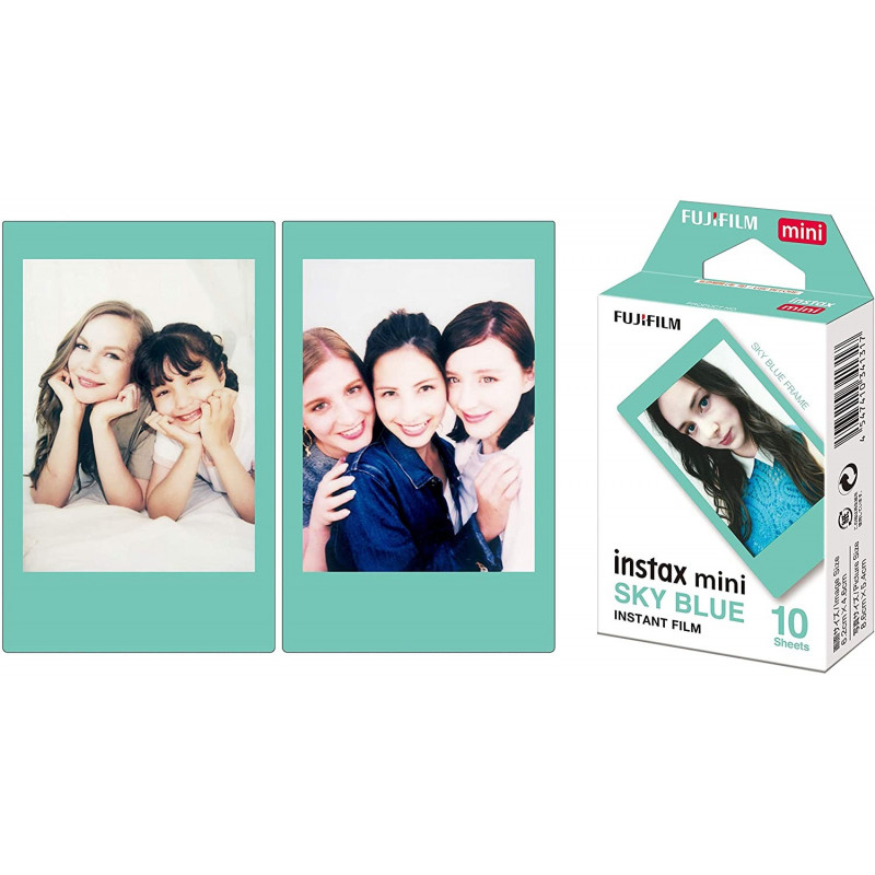 Fujifilm instax mini Film Sky Blue frame (10 Exposures)