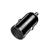 AWEI C-826 Μίνι γρήγορος φορτιστής αναπτήρα αυτοκινήτου για 2 USB
