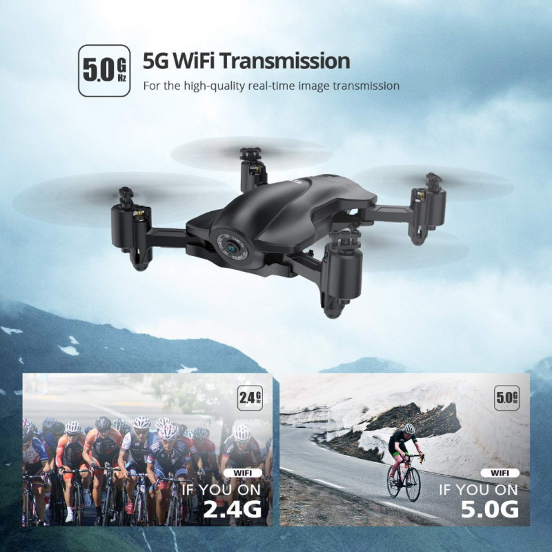 Holy Stone HS165 FPV Drone - With Full HD 1080p Camera and GPS + Extra Μπαταρία + Θήκη