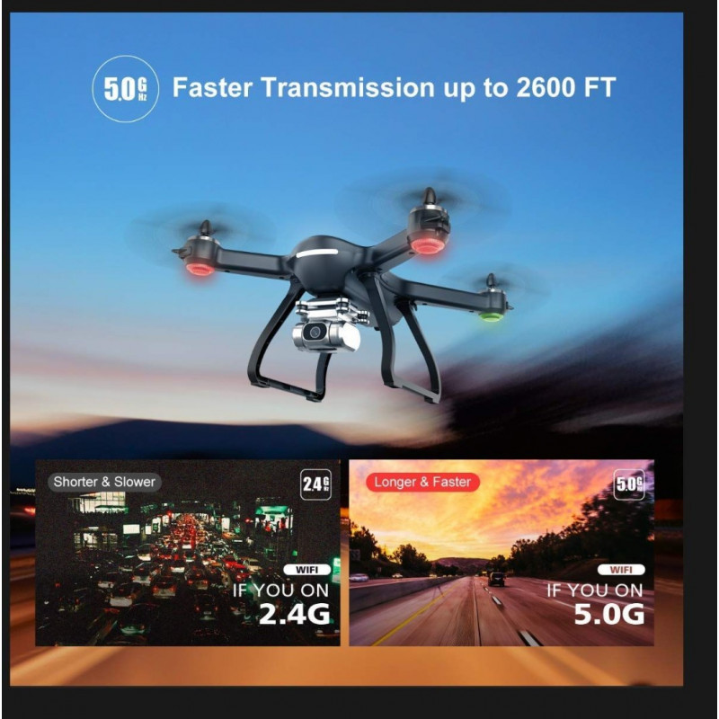 Holy Stone HS700D FPV Drone - With 4K FHD Camera Live Video And GPS