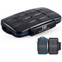 JJC MC-ST16 Water Resistant Memory Card Case (Fits 8 x SD + 8 x Micro SD Cards)