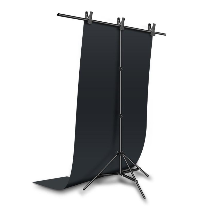 oem IRiSfot φόντα βινυλίου 100x200cm Λευκό / Μαύρο + στήριγμα