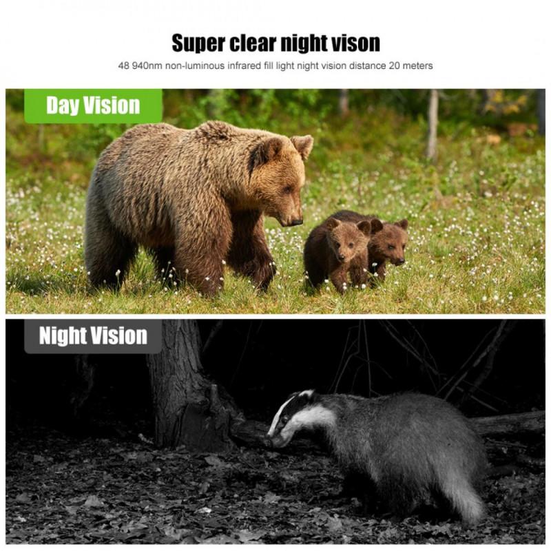 K&F HB-E2 Hunting Camera Scouting Camera Wild View 1080P 16MP HD PIR Motion Night Vision Camera
