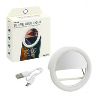 Kunla LED Selfie Ring Light με USB και καθρέφτη - White [KL-HK88-W]