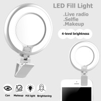Kunla LED Selfie Ring Light με USB και καθρέφτη - White [KL-10-W]
