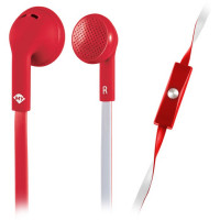 Meliconi MySound SpeakFlat Earphones with microphone Red [497451]