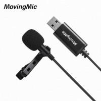 MovingMic UL1 Ενσύρματο Μικρόφωνο USB - Ψείρα για PC / MAC