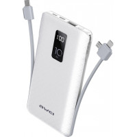Awei P8K Power Bank, 10.000mAh - White