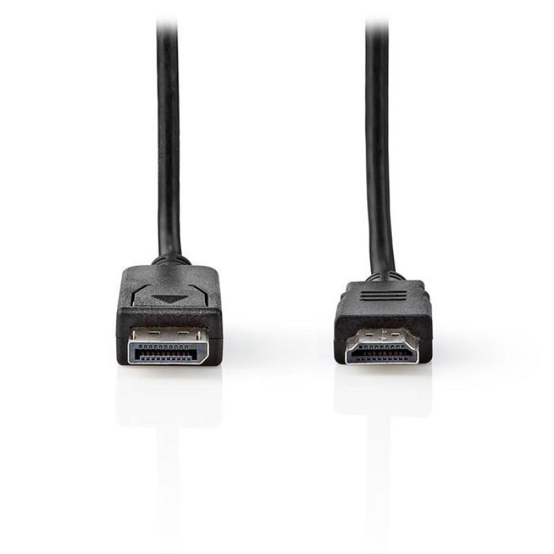 Nedis Καλώδιο εικόνας DisplayPort αρσ. σε HDMI αρσ. 2.00m. [CCGT37100BK20]