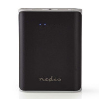 Nedis Power Bank, 10.000mAh με 2 θύρες USB 5V -3.1Α - Black [UPBK10000BK]